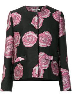 приталенный пиджак с цветочной вышивкой Ganni