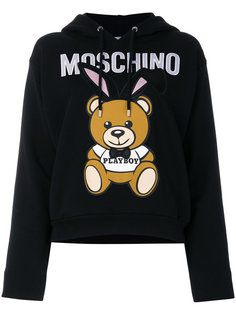 толстовка  с вышивкой Playboy  Moschino