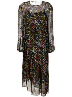прозрачное платье с цветочным принтом See By Chloé