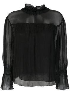полупрозрачная блузка с высокой горловиной  See By Chloé