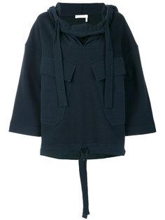 толстовка  с капюшоном и накладными карманами  See By Chloé