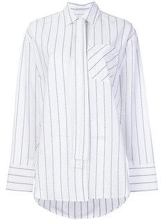 объемная рубашка в полоску MSGM