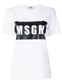 футболка с принтом MSGM