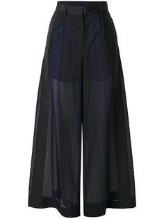 прозрачные брюки-палаццо Voile Sacai