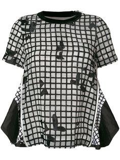 блузка в сетку  Sacai