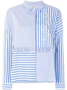 полосатая блузка дизайна колор-блок Twin-Set