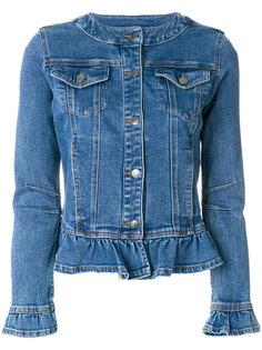 джинсовая куртка с рюшами  Twin-Set