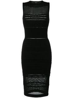 приталенное платье миди с вышивкой Twin-Set