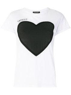 футболка с сердцем Twin-Set