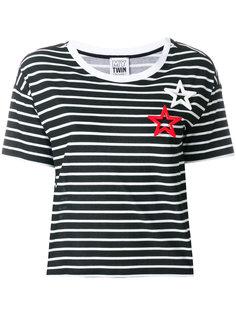 полосатая футболка с заплатками в форме звезд Twin-Set