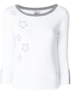 свитер с вышивкой звезд Twin-Set