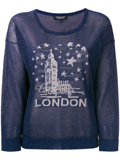 свитер с вышивкой London  Twin-Set
