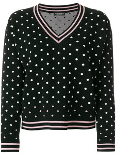 свитер  с узором в горох Twin-Set