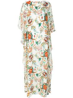 длинное платье  с цветочным принтом Alberta Ferretti