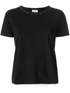 футболка с вышивкой на спине Twin-Set