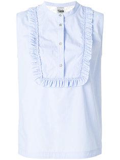 блузка без рукавов с рюшами Twin-Set