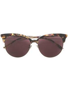солнцезащитные очки с узором черепашьего панциря  Bottega Veneta