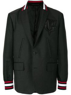 пиджак с контрастной отделкой Givenchy