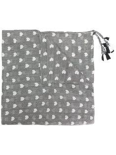 шарф в полоску с сердцами Twin-Set