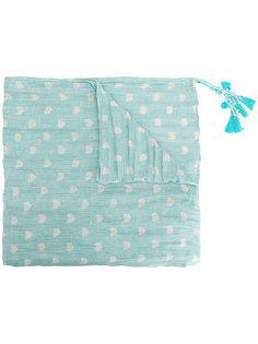 шарф в горошек с кисточками Twin-Set