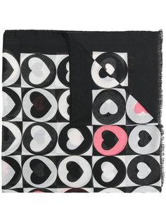 шарф с принтом сердец Twin-Set