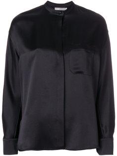 блузка с воротником-стойкой Vince