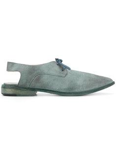 туфли с открытой пяткой на шнуровке Marsèll