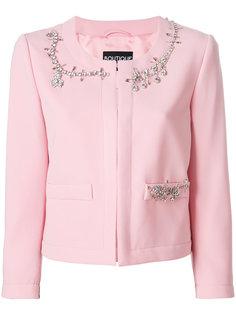 пиджак декорированный кристаллами  Boutique Moschino