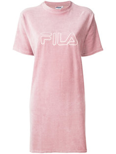футболка с вышитым логотипом  Fila