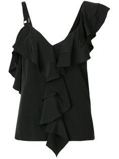 асимметричная блузка с оборочной отделкой Proenza Schouler