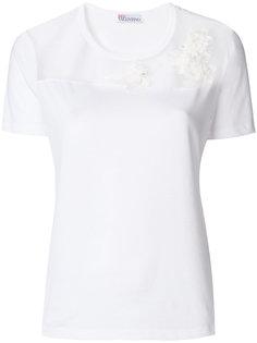 футболка с прозрачной панелью Red Valentino