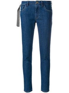 джинсы с ремешком в клетку Miu Miu