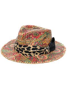 шляпа-федора с узором Etro
