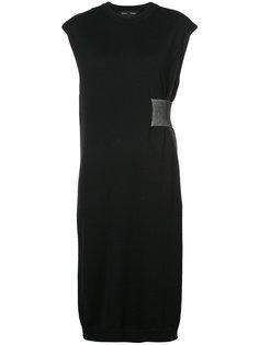платье со сборкой сбоку  Proenza Schouler