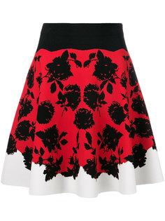 юбка с цветочным принтом Alexander McQueen