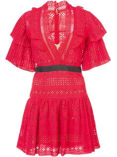 расклешенное платье с вышивкой Self-Portrait