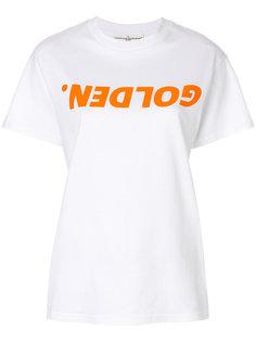 футболка с заплаткой с логотипом  Golden Goose Deluxe Brand