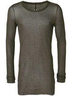 удлиненная футболка с длинными рукавами Rick Owens
