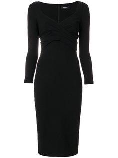 облегающее платье с глубоким вырезом Dsquared2