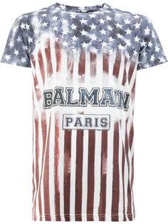 футболка с принтом флага США Balmain