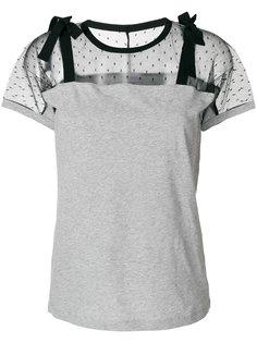 футболка с панелями из тюля Red Valentino