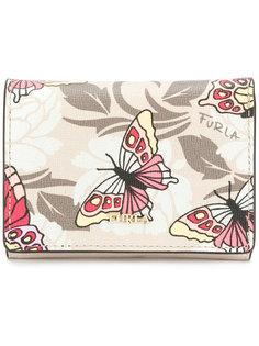 кошелек с принтом бабочек  Furla