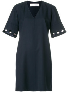 платье-шифт с вырезными деталями на рукавах Victoria Victoria Beckham