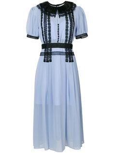 платье в крестьянском стиле с кружевной отделкой Self-Portrait