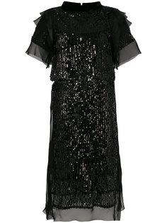 платье шифт с пайетками  Sacai
