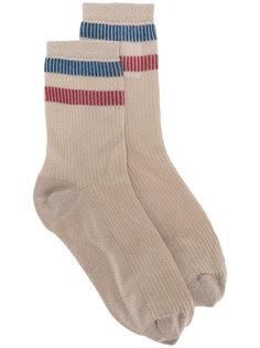 носки с контрастными полосками Red Valentino