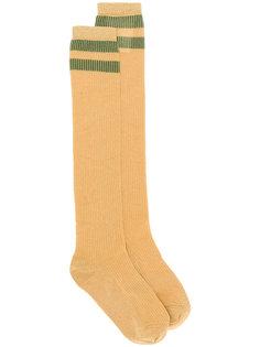 удлиненные носки с полосками Red Valentino