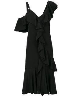 расклешенное платье миди с оборкой  Proenza Schouler