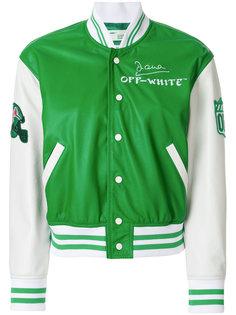 университетская куртка-бомбер Off-White
