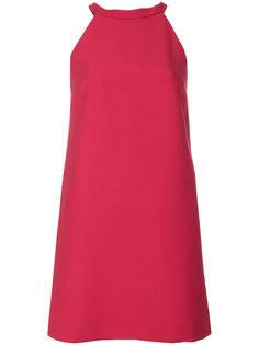 короткое платье с перекрещенными лямками сзади Miu Miu